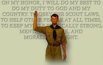 Scout taking oath