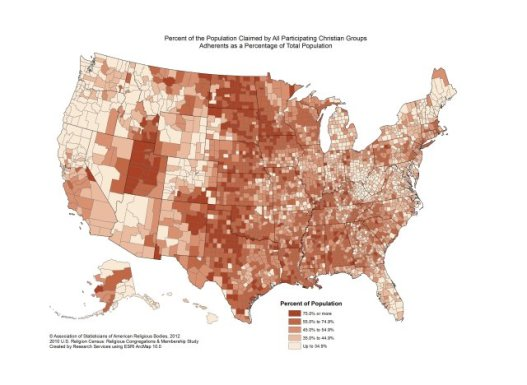 Map - US Religious Adherence