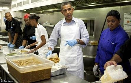 obama soup kitchen on 9-11